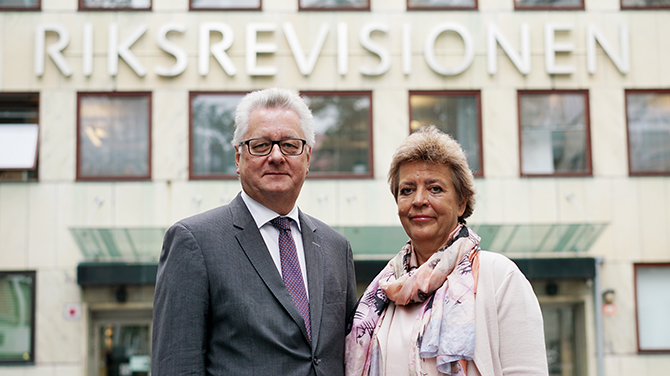 The Auditors General Stefan Lundgren and Helena Lindberg.