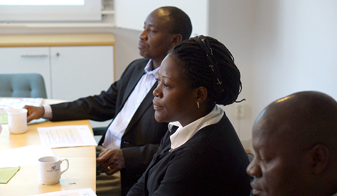 Auditors from Uganda visiting the Swedish NAO in Stockholm.