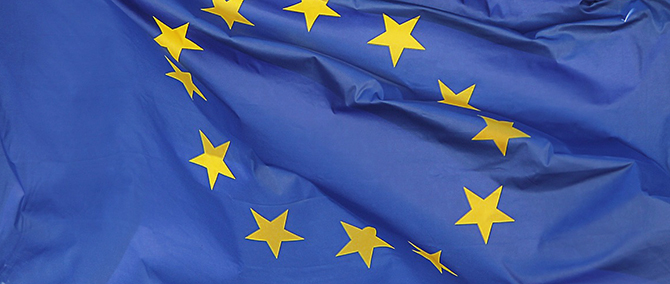 Flag of the EU.