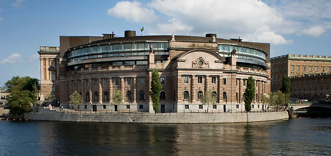 The Swedish Parliament.